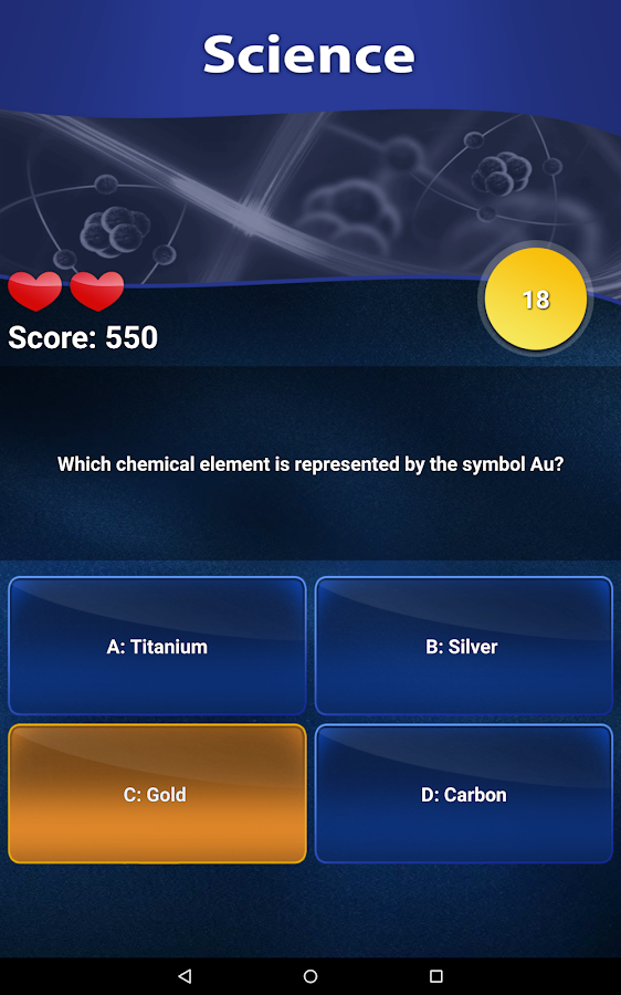 Quiz of Knowledge - Free game- screenshot