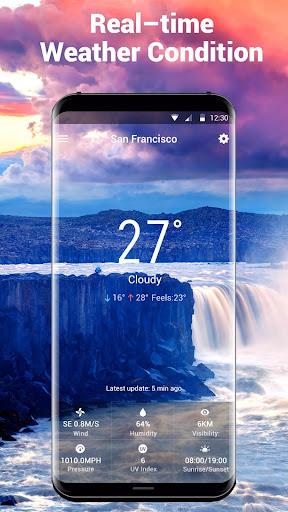 Transparent Weather Widget Raining  screenshots 2