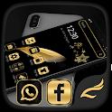 Black Gold Feather Theme icon