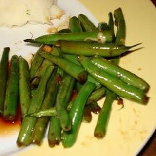 Dad's Pan-Fried Green Beans.
