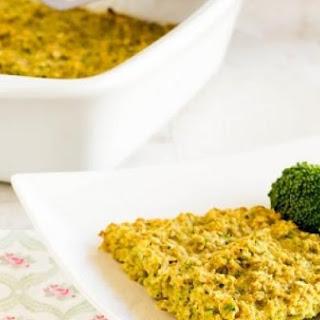 Broccoli Oatmeal Breakfast Casserole.