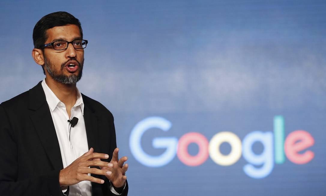Sundar Pichai, CEO do Google: lentidão nas decisões é criticada Foto: Tsering Topgyal / AP