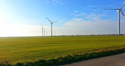 Photo: Des éoliennes vers Bouin
