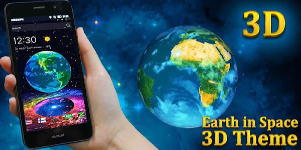 Earth in Space 3D Theme screenshot 3