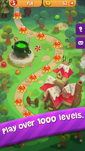 Sugar Witch - Sweet Match 3 Puzzle Game  screenshots 4