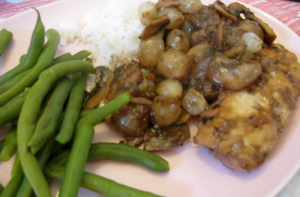 Braised Chicken with Mushrooms and Pearl Onions Recipe