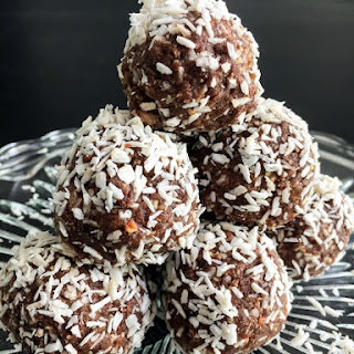 Chocolate Coconut Protein Snowballs.