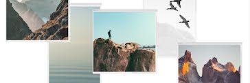 Rocky Cliff Window - Twitter Header template