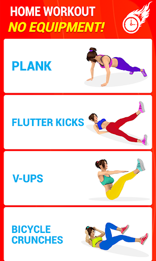 Six Pack Abs Workout 30 Day Fitness: HIIT Workouts 39.0 screenshots 2