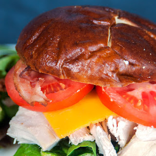Chicken Club Pretzel Bun