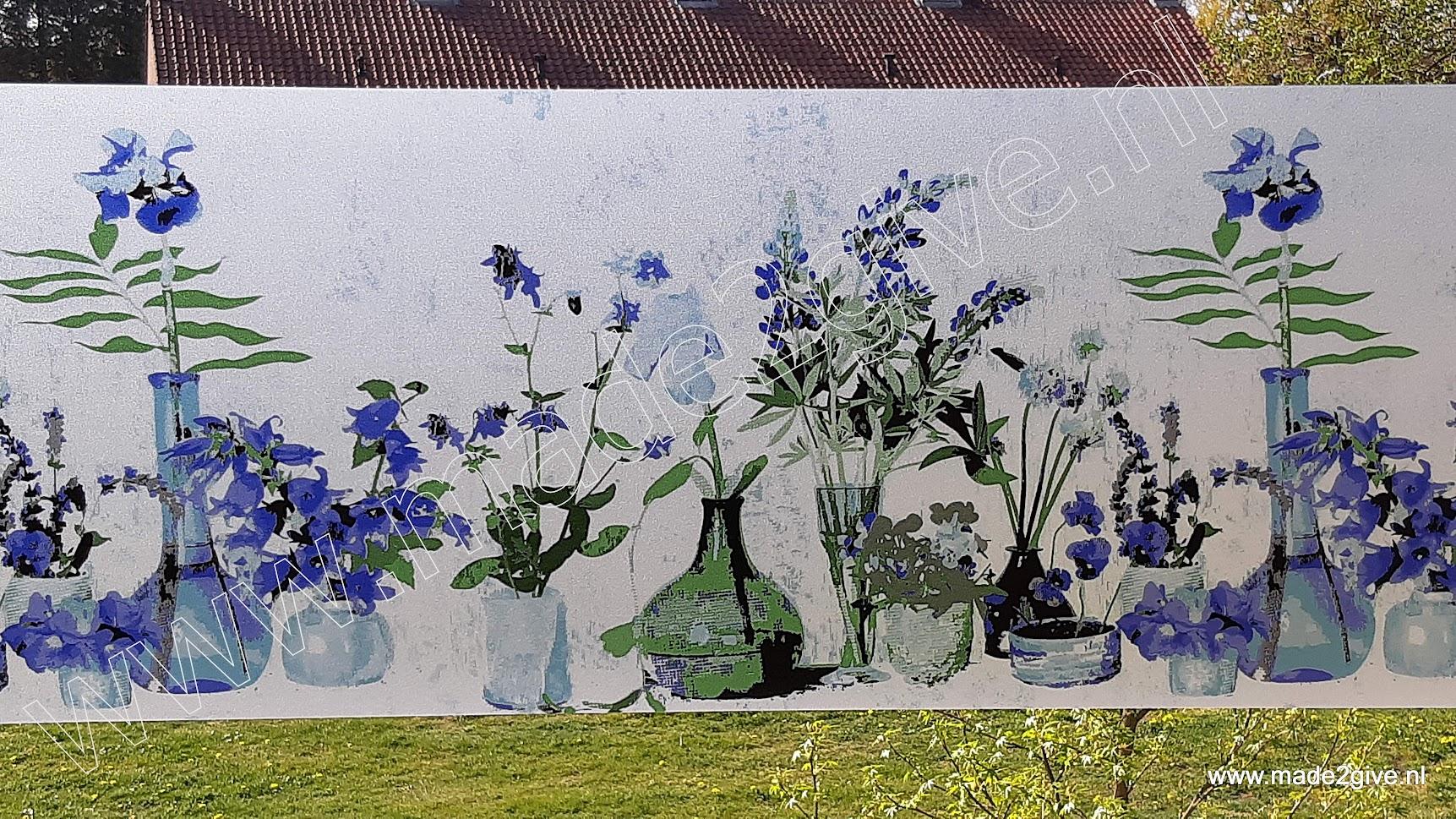 Glasfolie / raamfolie bloemen decoratie