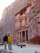 Photo: Looking back towards the Treasury as we prepared to continue our walk through Petra