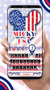 American flag and Mickey input method - náhled