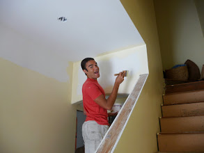 Photo: timothy painting the new hallway
