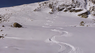 Photo: My ski tracks in perfect snow