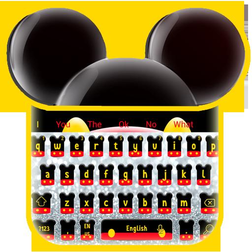 Twinkle Cute Micky Bow Keyboard Theme