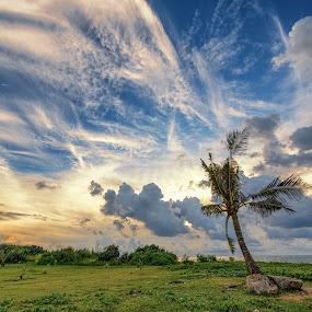 Island Clouds by Jun Robato - Landscapes Cloud Formations ( cloud formations, guam, sunsets, landscapes )