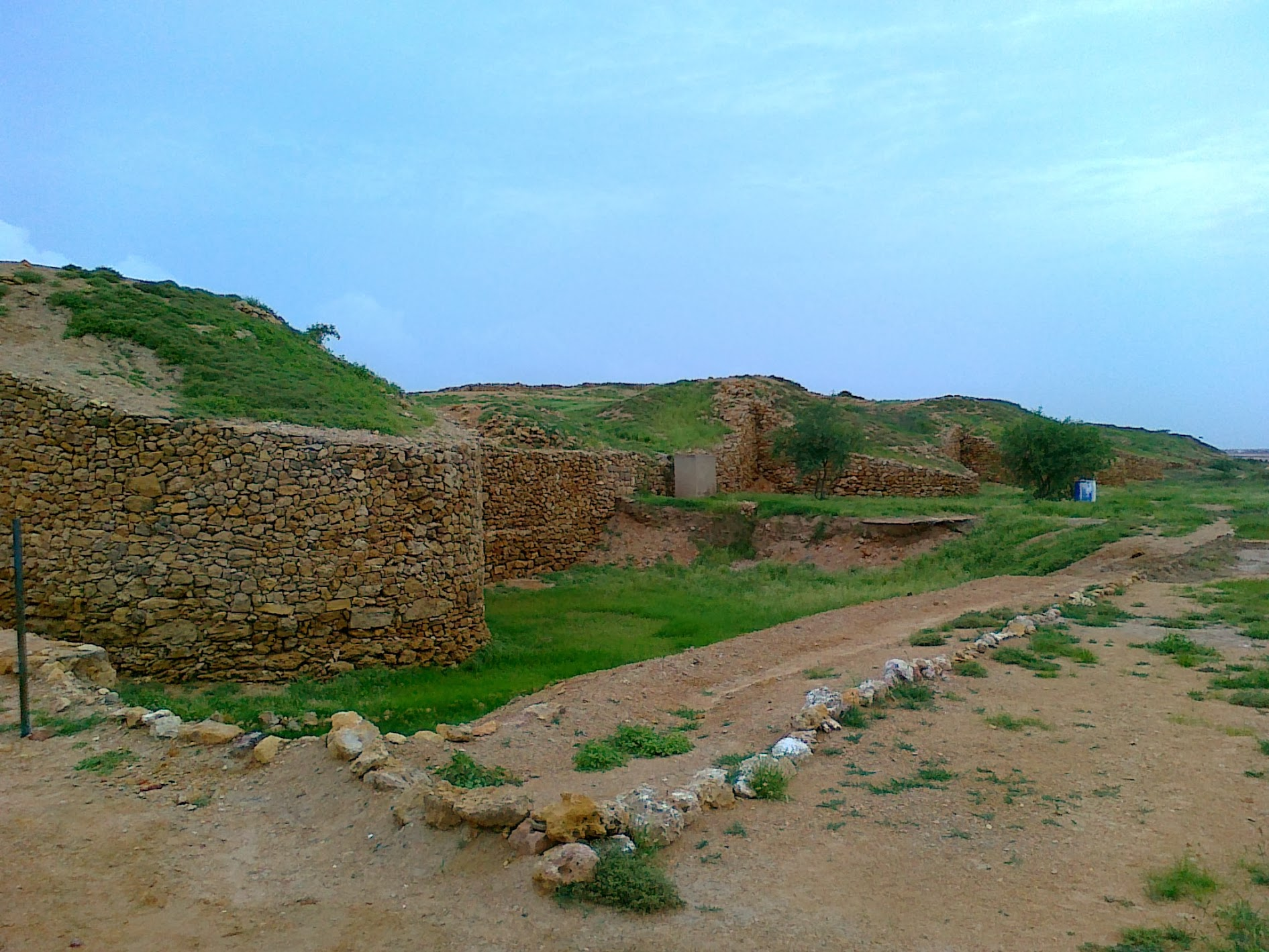 Bastions on fortification wall