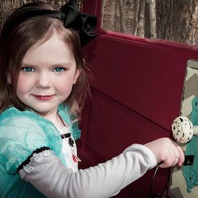 I'm Off to Wonderland by Vanessa Meyers - Babies & Children Child Portraits ( doors, keys, theme, children, outside,  )
