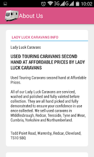 Lady Luck Caravan Sales screenshot