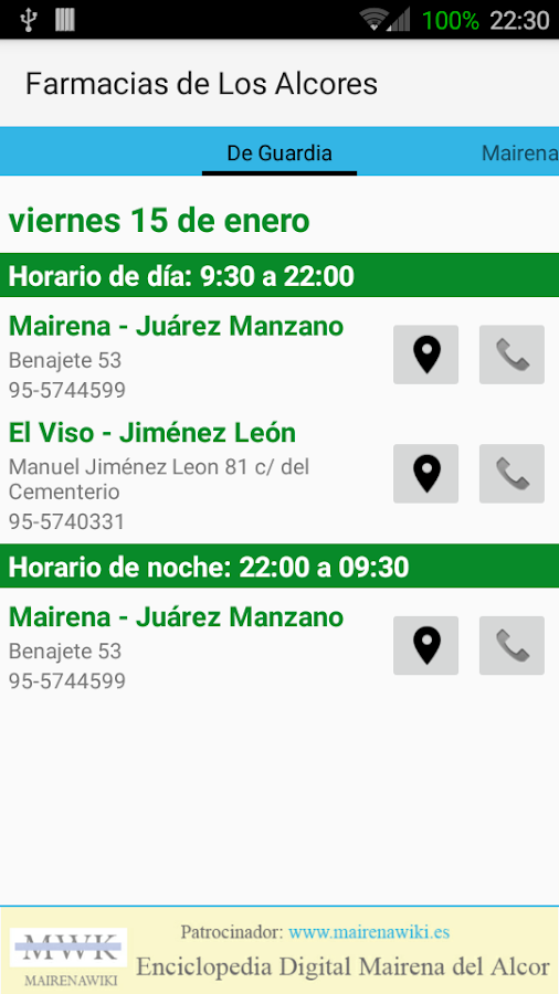 Farmacias de Los Alcores- screenshot