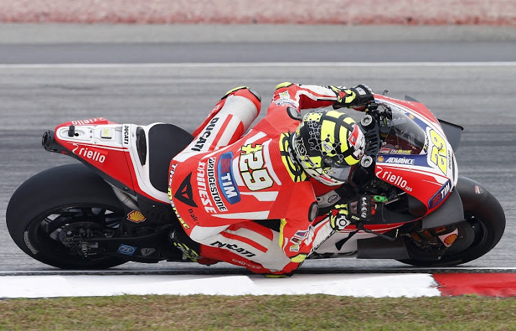9c7fb09de2 FILE PHOTO  Ducati MotoGP rider Andrea Iannone of Italy rides during the  first free practice