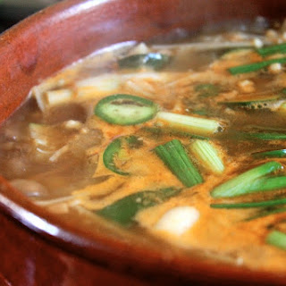 Doenjang Chigae aka Korean Bean Paste Soup.