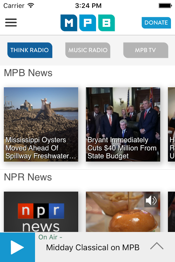 MPB Public Media App- screenshot