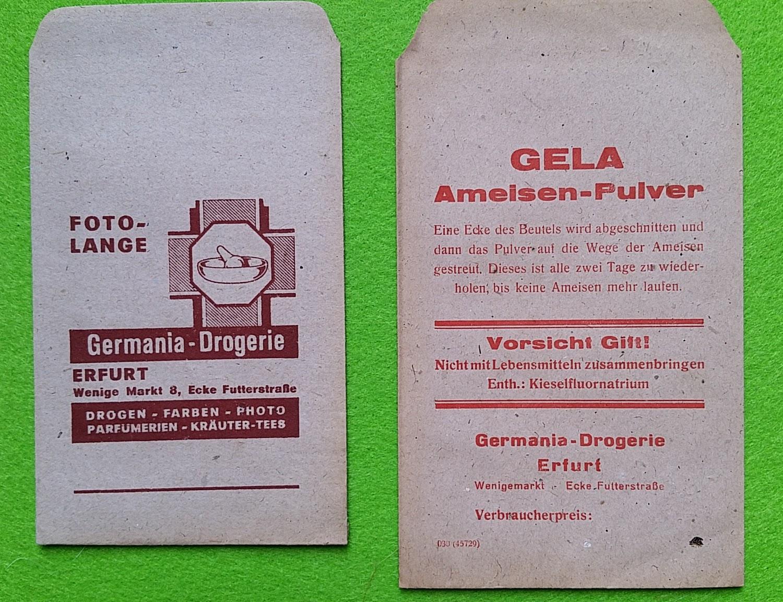 Papiertüten aus der Drogerie und Apotheke - Ungezieferpulver
