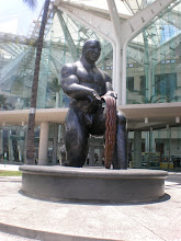 Photo: Statue outside the convention center. He is supposed to represent a welcome to the city.