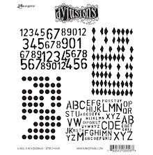Dylusions Cling Stamps 8.5X7 - Basic Backgrounds