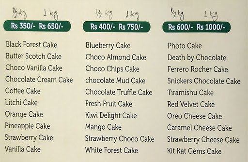 Cake Boy menu 1