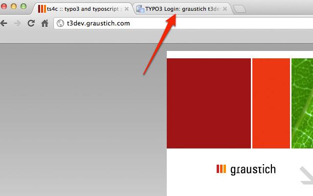 Fast TYPO3 CMS Backend switch