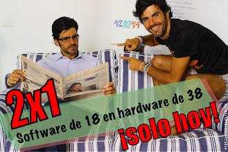 Photo: Oferta especial 2x1: software de 18 en hardware de 38. Solo hoy. ¡Aprovecha aniversario de fabricación! :) >