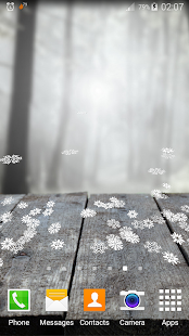 Falling Snowflakes 3D lwp Pro - náhled