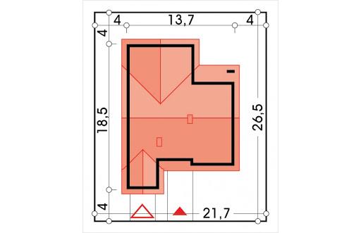 Ambrozja 2 wersja A parterowa z pojedynczym garażem - Sytuacja