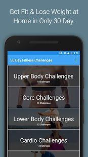 30 Day Fitness Challenges Screenshot 1