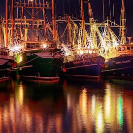 Cape May Fishng Boats  by Jody Grenier - Transportation Boats