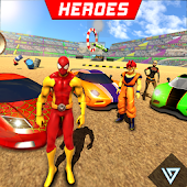 Superhero Car Wars: Stunt Racing Game
