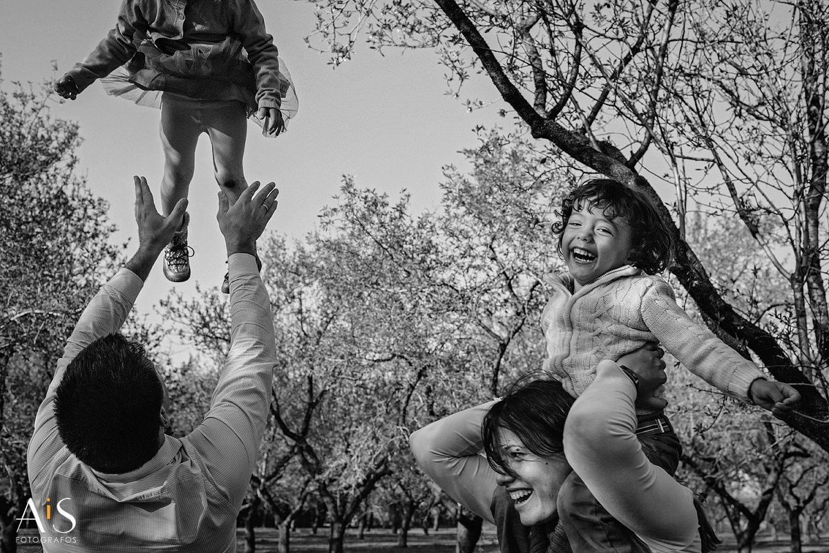 Fotos de familia - tiempo de juego