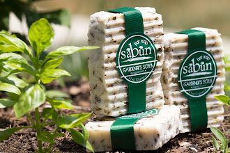 Photo: Sabun Gardener's Scrub Peppermint Bar Soap- Made with fennel seeds and peppermint essential oil. The fennel seeds provide a deep scrubbing action.