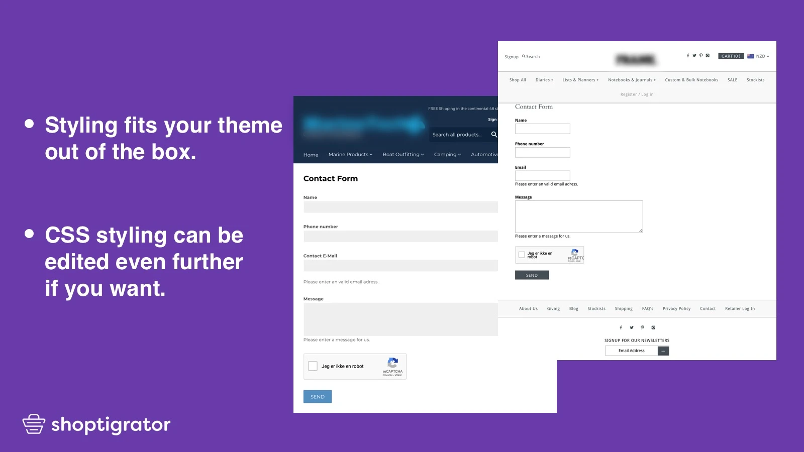 amazing Shopify contact form app