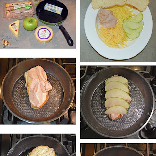 Turkey, Gouda, & Granny Smith Apple Inside-Out Grilled Cheese