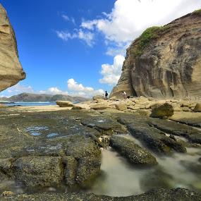 Rock at Umbrella Stone-Lombok Island by Putu Ekak - Nature Up Close Rock & Stone