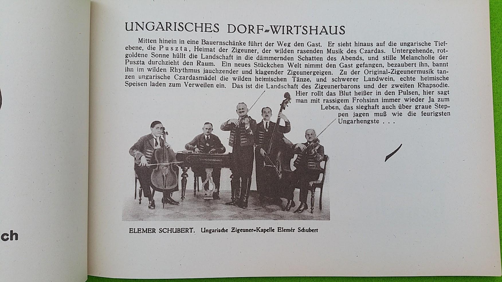 Begleitheft zur Eröffnung von Haus Vaterland am Potsdamer Platz, Berlin, 31. August 1928 - Csarda