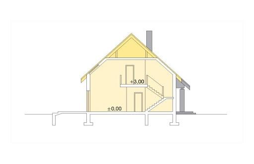 Ada wersja B z pojedynczym garażem - Przekrój