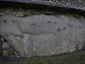 Photo: Stone carvings on one of the curbstones