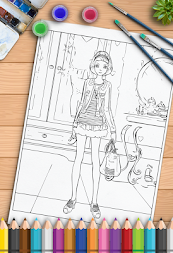 Young Ladies Painting Pages APK screenshot thumbnail 9