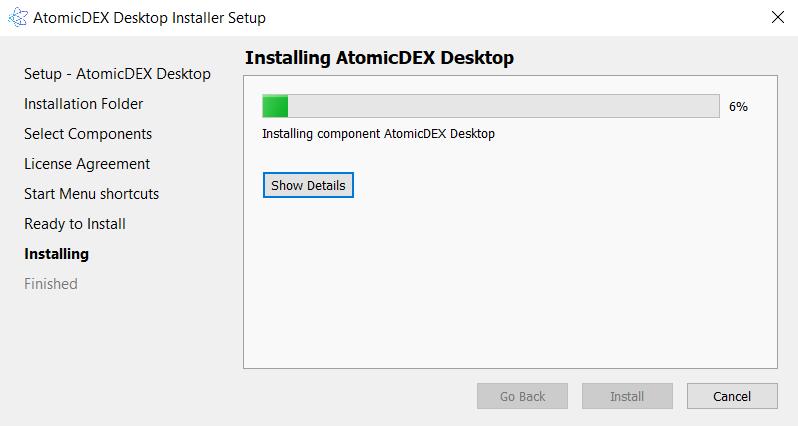 Install AtomicDEX 7
