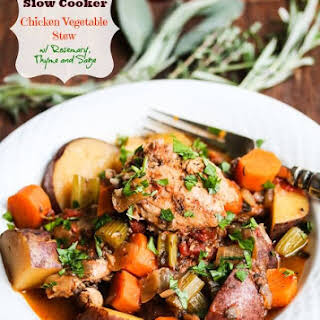 Slow Cooker Fall Chicken Vegetable Stew.